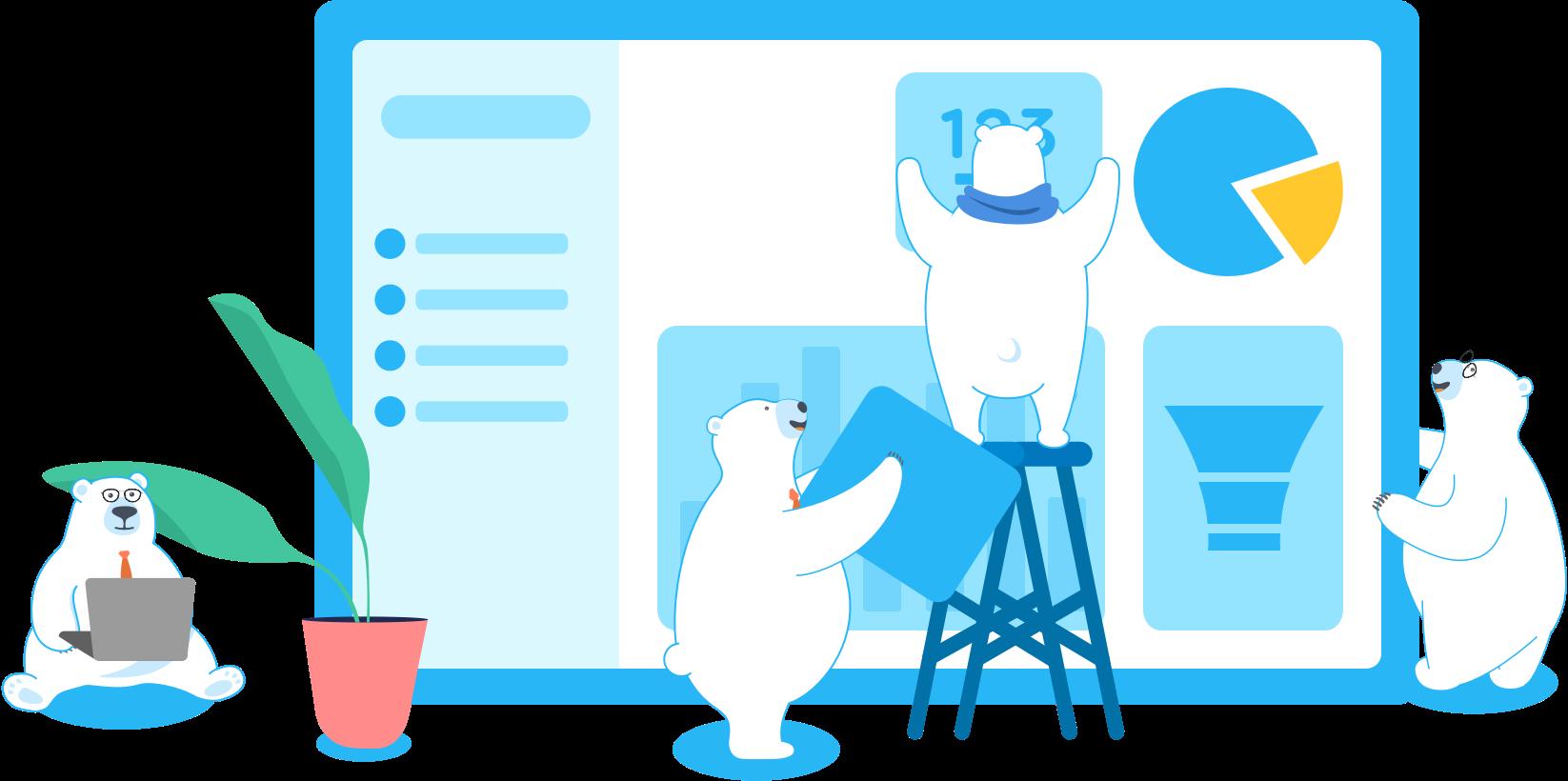 DataDeck Teamwork Ice Bears